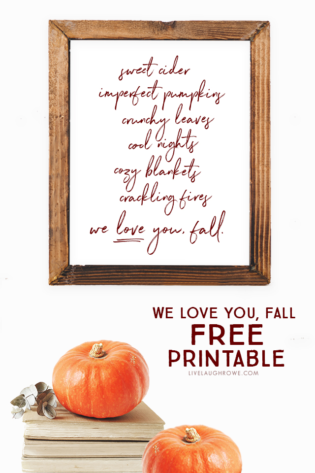 Framed Reasons to Love Fall