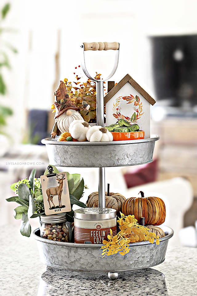 Fall Two-Tiered Tray