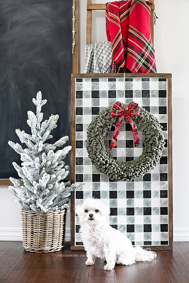 Parker and Simple Christmas Wreath