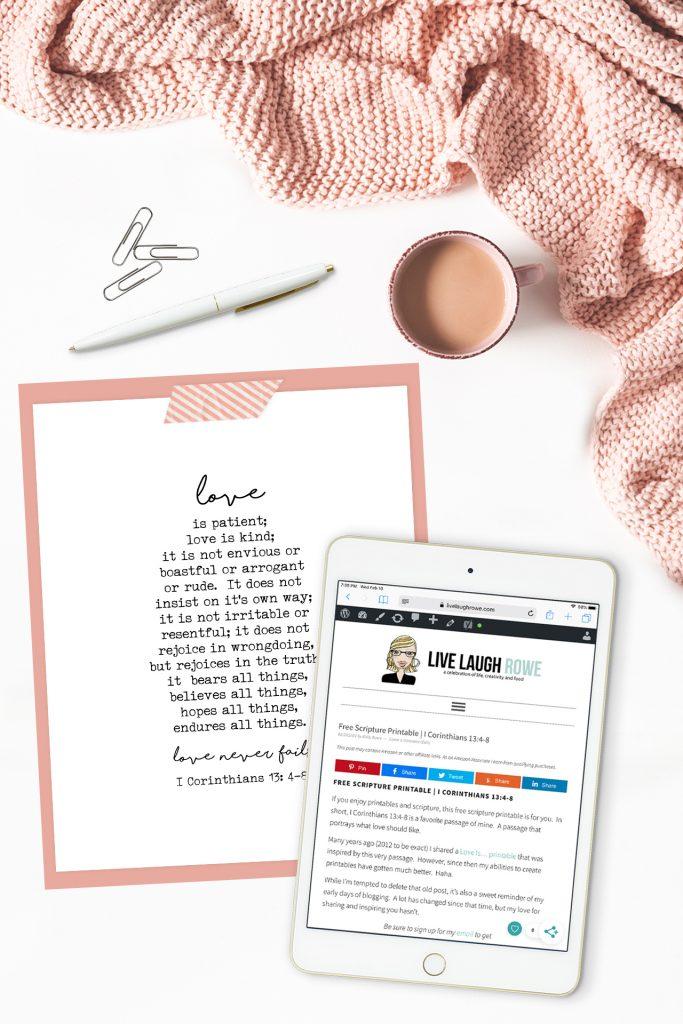 Scripture Printable and iPad