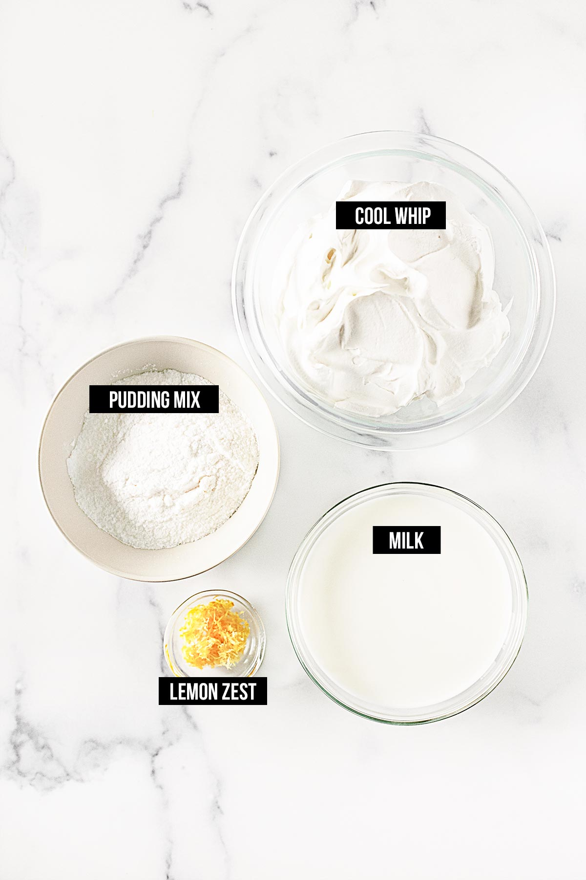 Ingredients for Cake Frosting