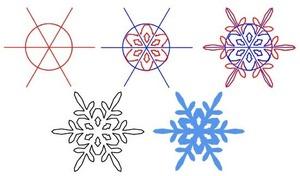Maneira fácil de desenhar flocos de neve