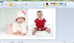 Paint - совмещение изображений