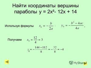 Как построить параболу