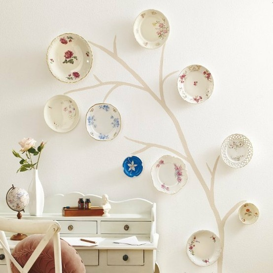 Decorating with Plates for Creative Wall Displays