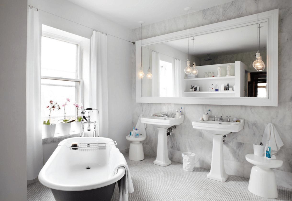 beautiful white bathrooms - HD1220×840
