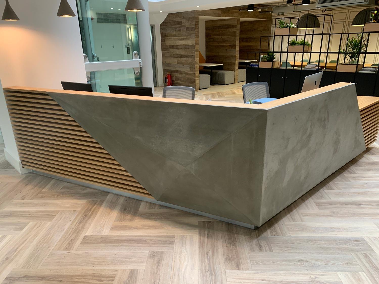 K2 Space Reception Desk South London Living Concrete
