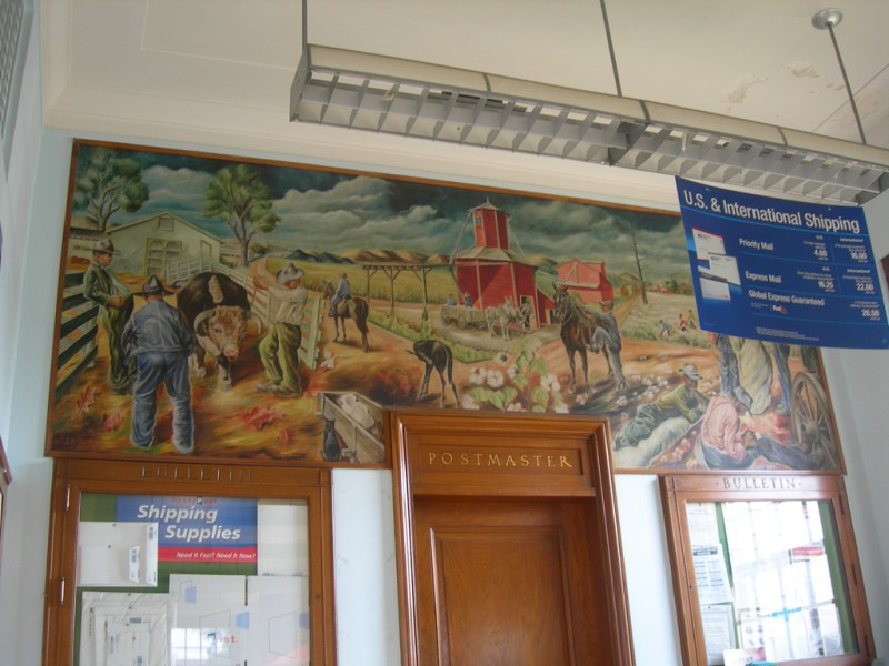 Post Office Mural   Paris AR   Living New Deal  Rural Arkansas