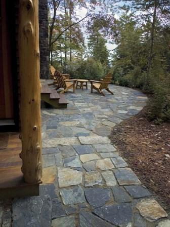 Flagstone Patio Diy Livingston Farm Outdoor Structures