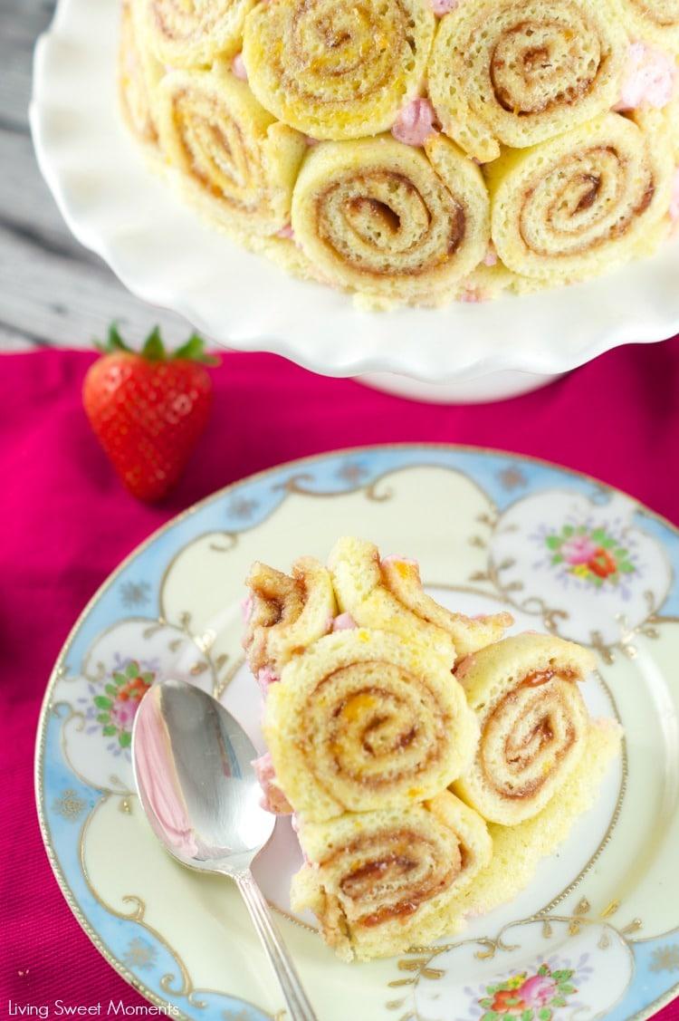 Strawberry Charlotte Royale Cake Living Sweet Moments