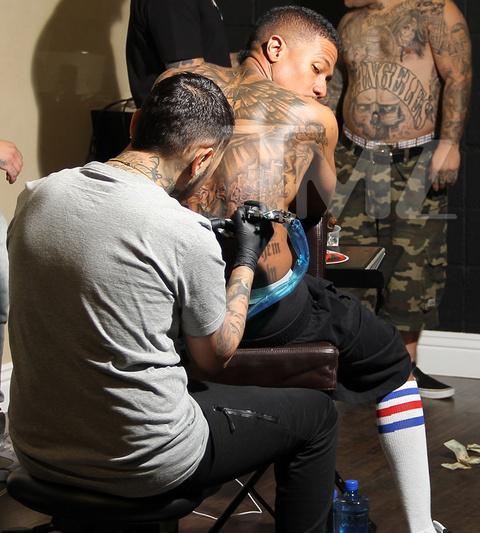 nick cannon tattoo - 480×533