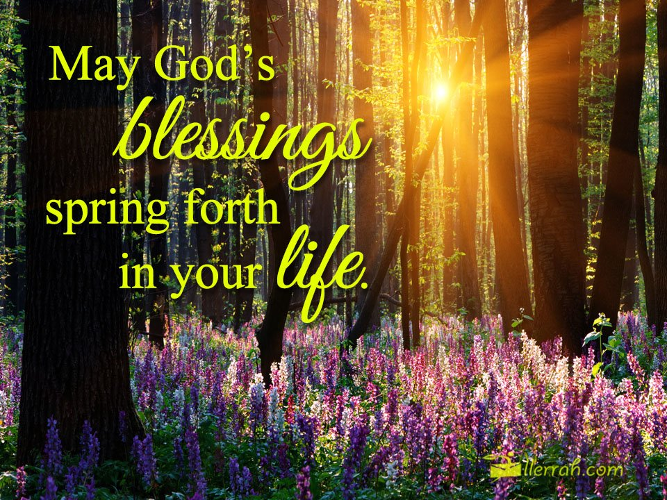 May God's Blessings Spring Forth
