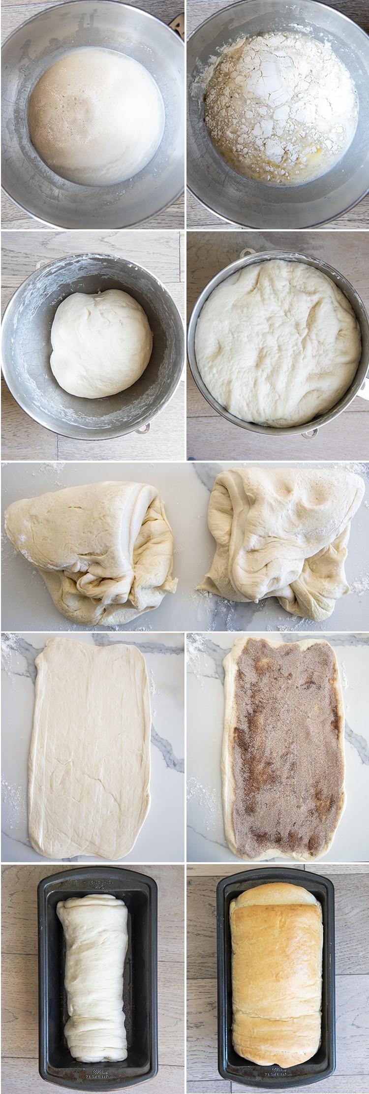 Step by step photos how to make cinnamon swirl bread