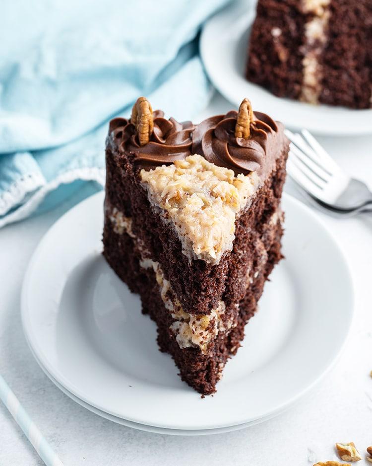 A slice of German Chocolate Cake