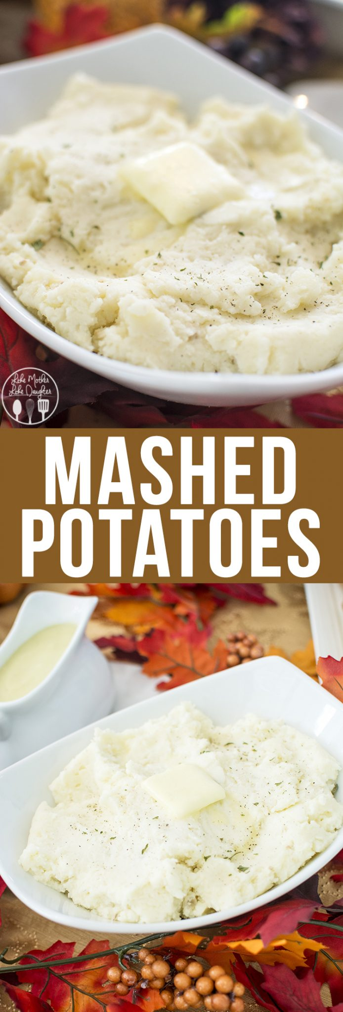 Mashed Potatoes - these mashed potatoes have great flavor, great texture and would make a perfect side dish to your Thanksgiving meal!