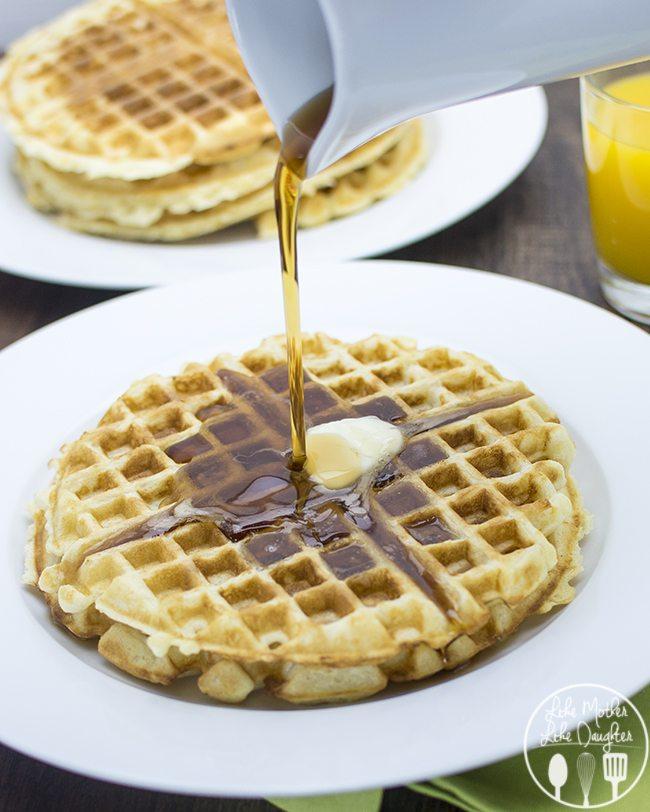 golden butter waffles 1