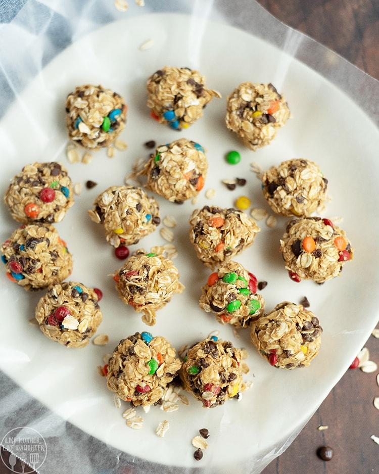 Monster Cookie Granola Bites