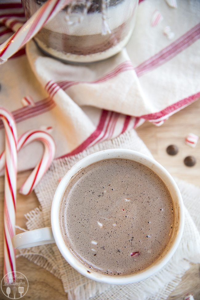 How cocoa Mix is a perfect holiday neighor gift, or great for warming up on a cold day.