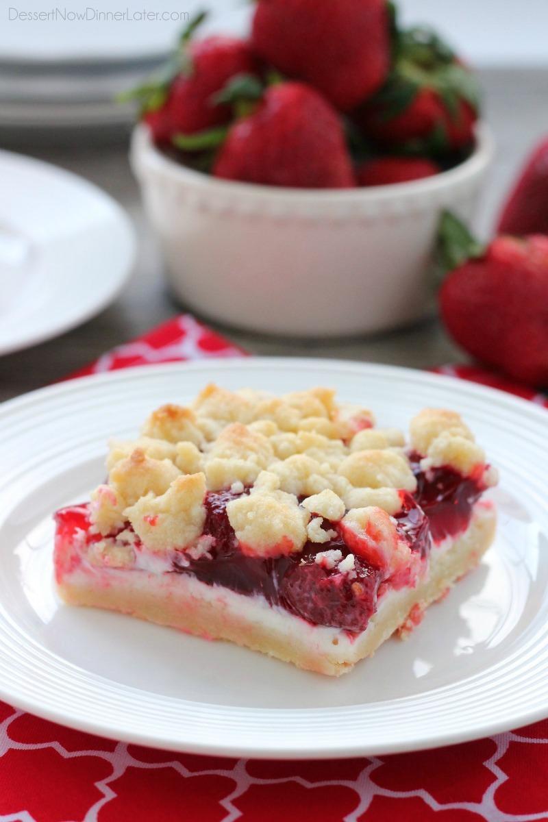 Strawberries and Cream Crumb Bars WM