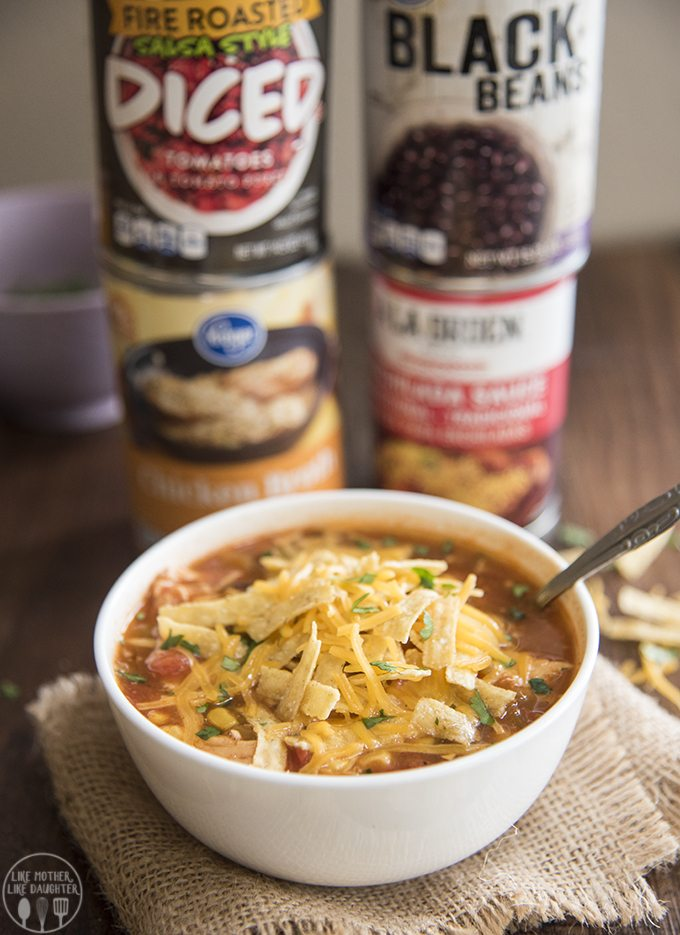 Slow cooker chicken enchilada soup is packed full of flavor, with hardly any work, itsa meal that the whole family loves.