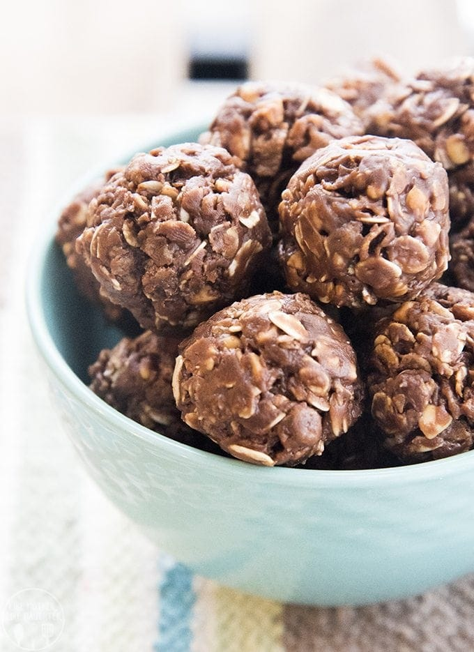 No bake chocolate peanut butter energy balls are made with just a few ingredients and are so easy to make for a perfect healthier snack or treat!
