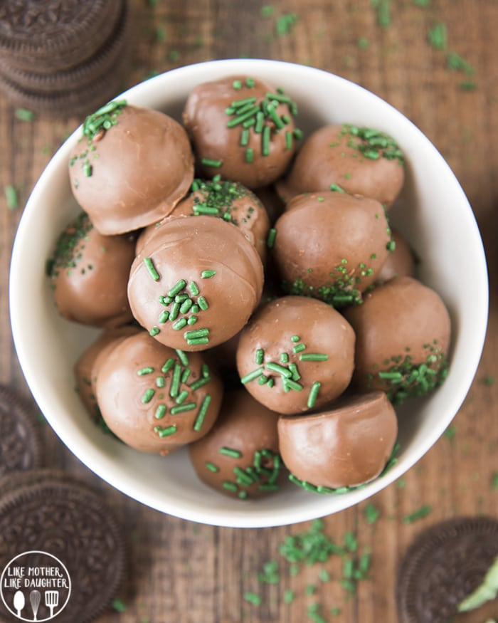 Oreo Balls with mint Oreos