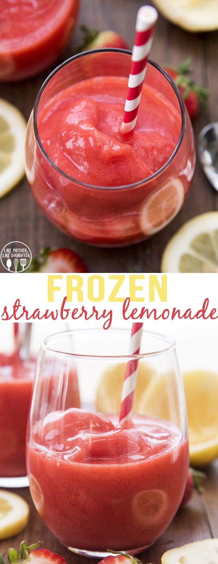 Frozen Strawberry Lemonade is the perfect sweet and tangy cold treat to help you stay cool this summer!