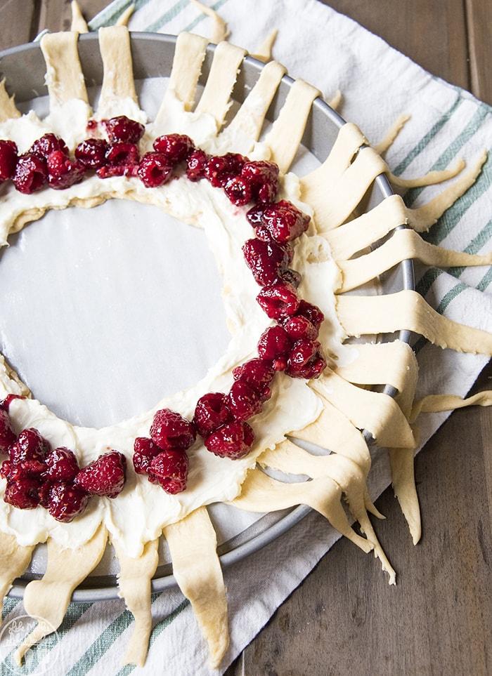 Raspberry Cream Cheese Crescent Danish Ring
