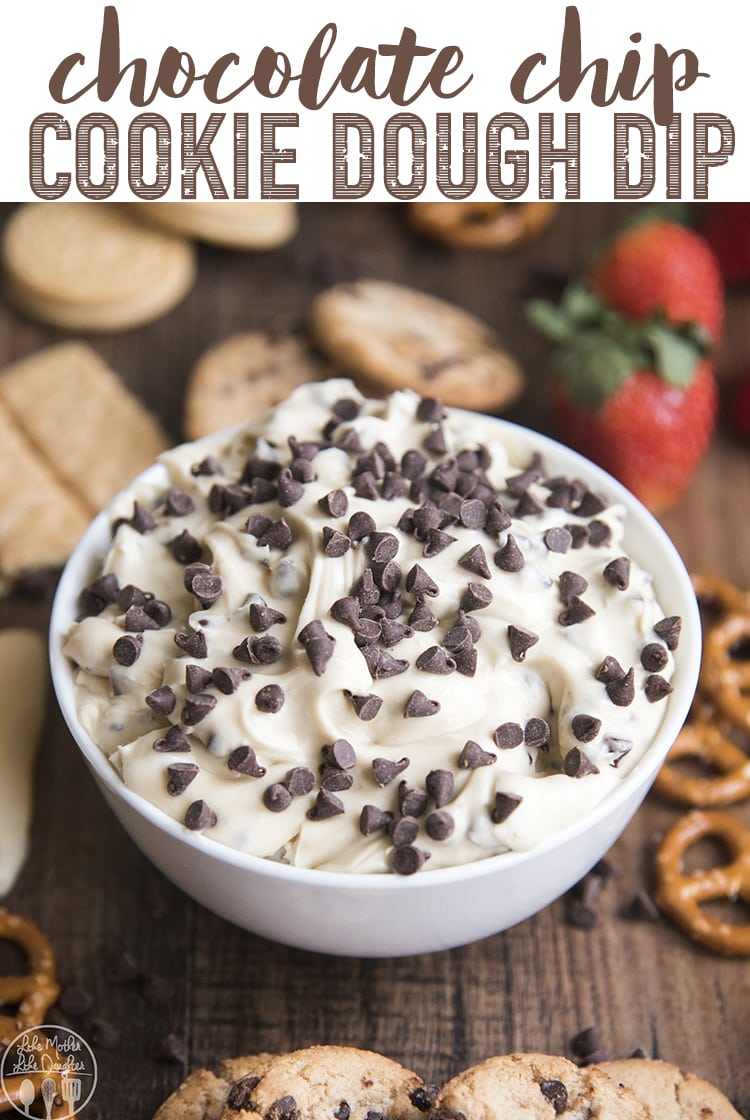 Everyone will love this chocolate chip cookie dough dip! It's a delicious and easy dip that has the great taste of cookie dough, perfect for a party!