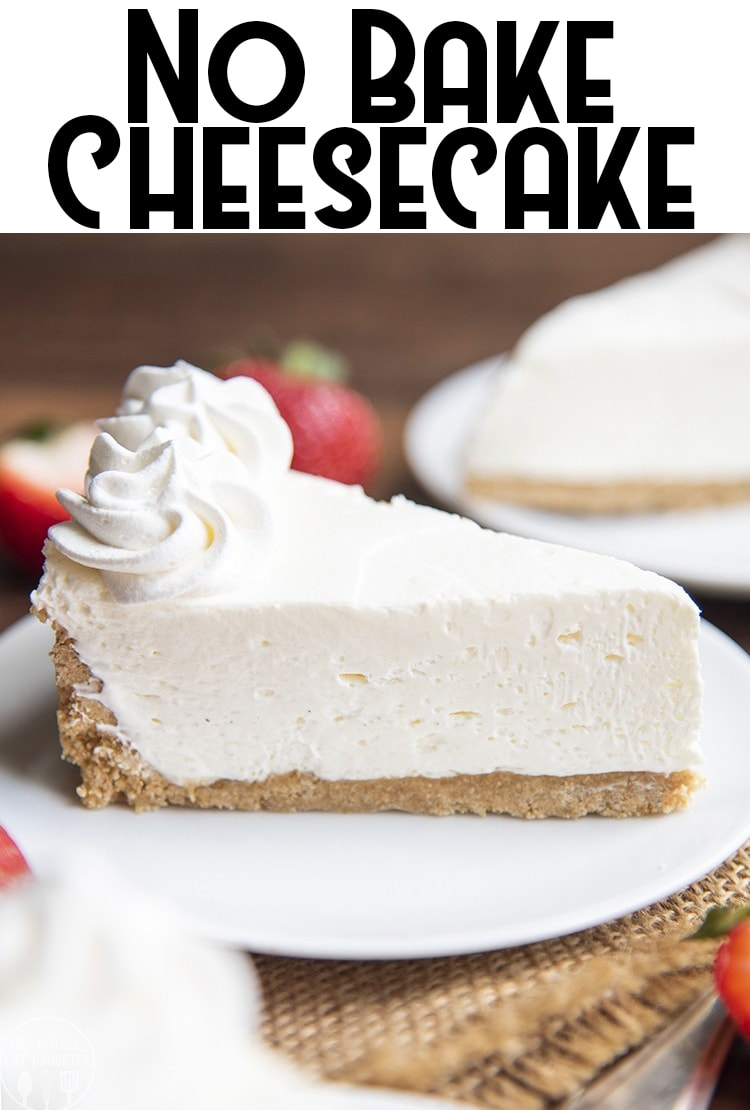 This No Bake Cheesecake is one of my favorite recipes, so quick, easy, and delicious, with the perfect buttery graham cracker cookie base, creamy no bake cheesecake filling, all topped with a sweet strawberry sauce.