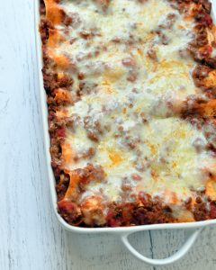 This lasagna has delicious layers of a simple red sauce, cheesy ricotta, and bechamel. As authentic as you can get to a Sicilian lasagna.