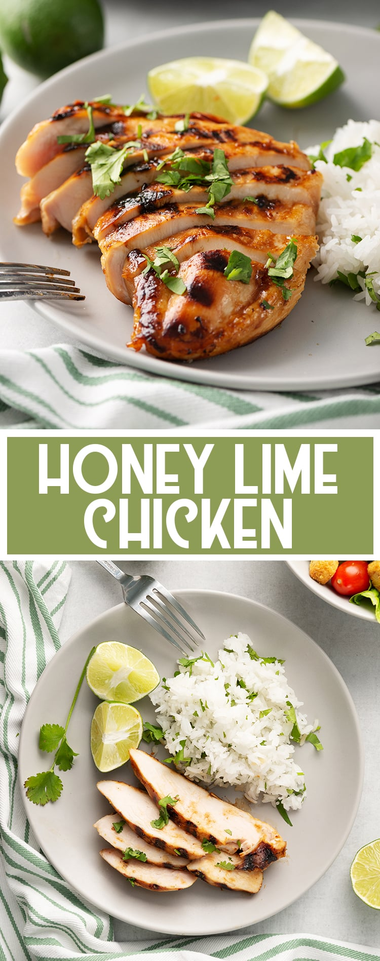 Grilled Honey Lime Chicken with text overlay for pinterest