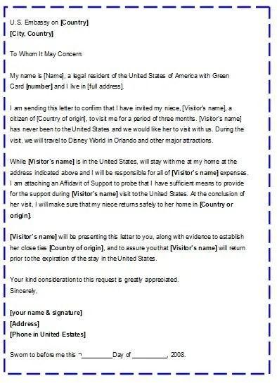 Como Hacer Una Carta Recomendacion De Inmigracion Para