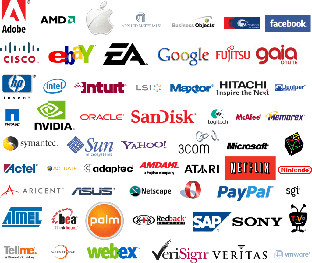 Clothing And Apparel Logos Are Red