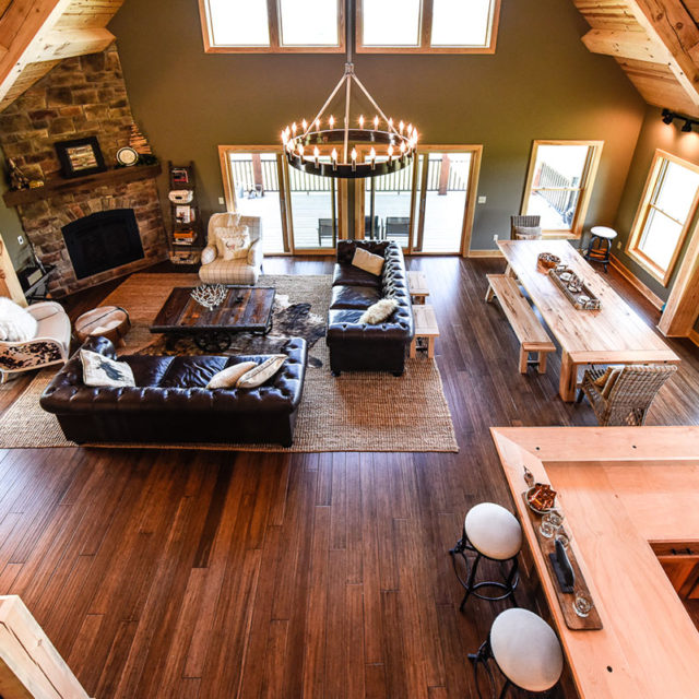 Open Concept Living Space Lofty Mountain Homes