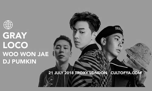 Featured image for post: Gray, Loco, Woo Won Jae, DJ Pumkin in London