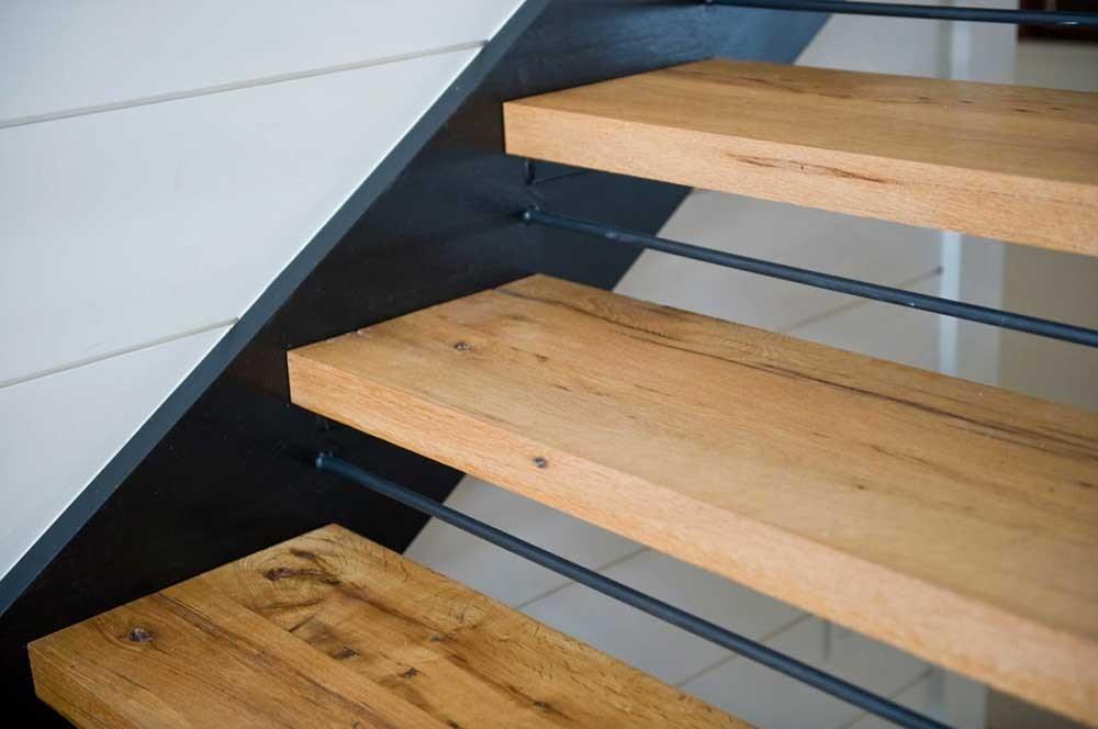 Longleaf Lumber Custom Reclaimed Wood Stair Treads Mouldings | Distressed Wood Stair Treads | Oak Stair | Bullnose Manufacturing | Straight Edge Wood | White Oak | Heavy Timber Stair