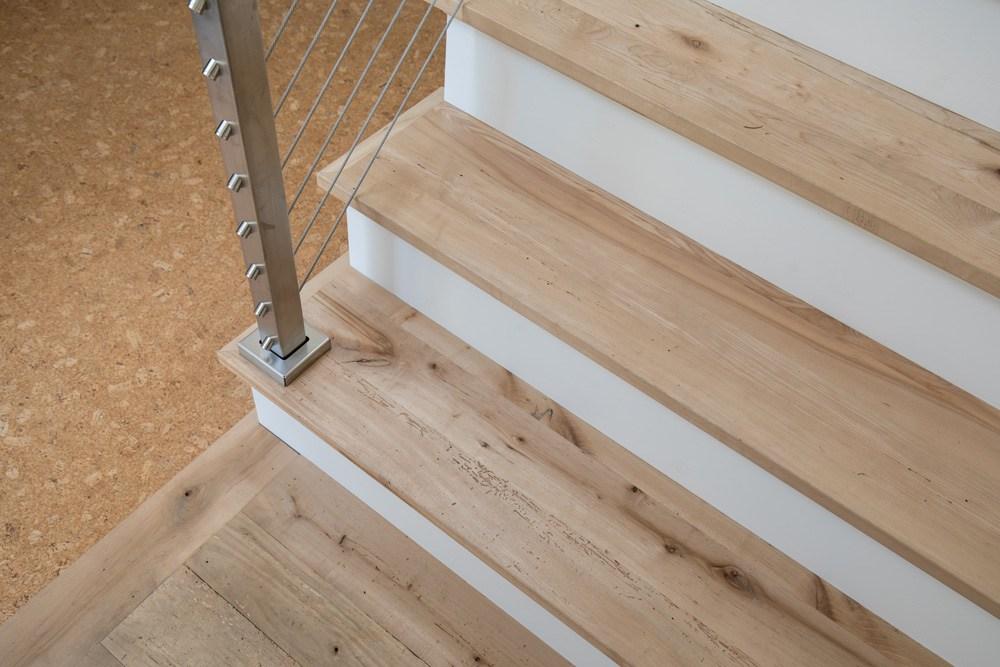 Longleaf Lumber Custom Reclaimed Wood Stair Treads Mouldings   White Oak Stair Treads   Modern Farmhouse   Wooden   Solid Oak   Wood Stair   Custom