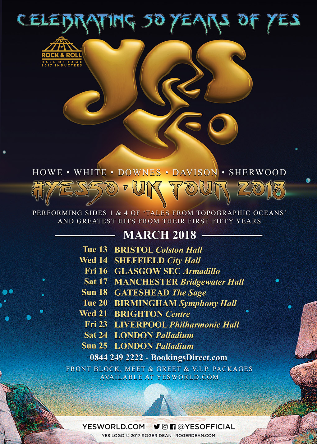 Yes Rock Band Tour Dates