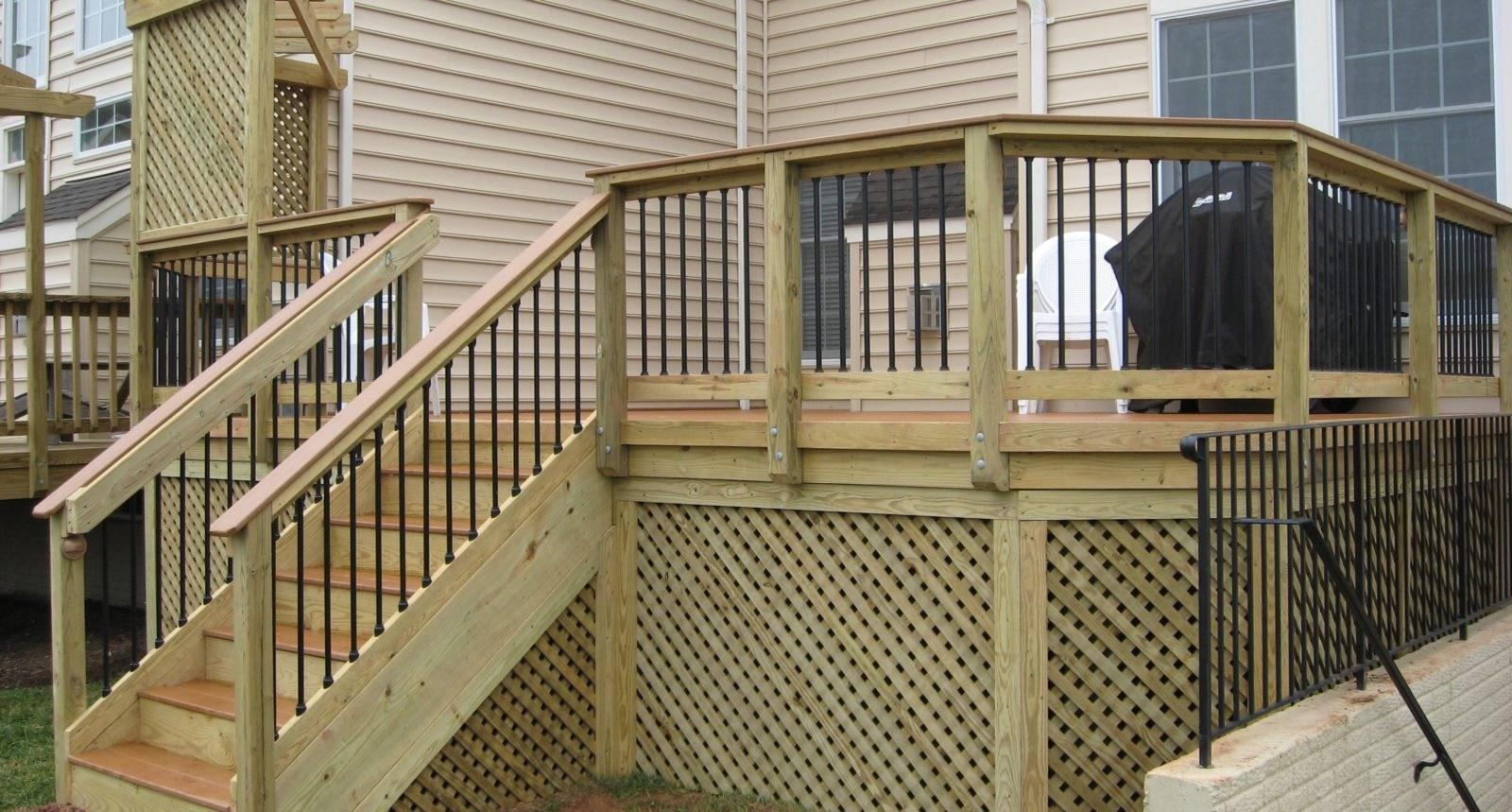 Deck Builder In Loudoun County Loudoun Deck Fence | Pressure Treated Stair Handrail | Sturdy | Step | Deck Rail | Long Deck | Treated Lumber