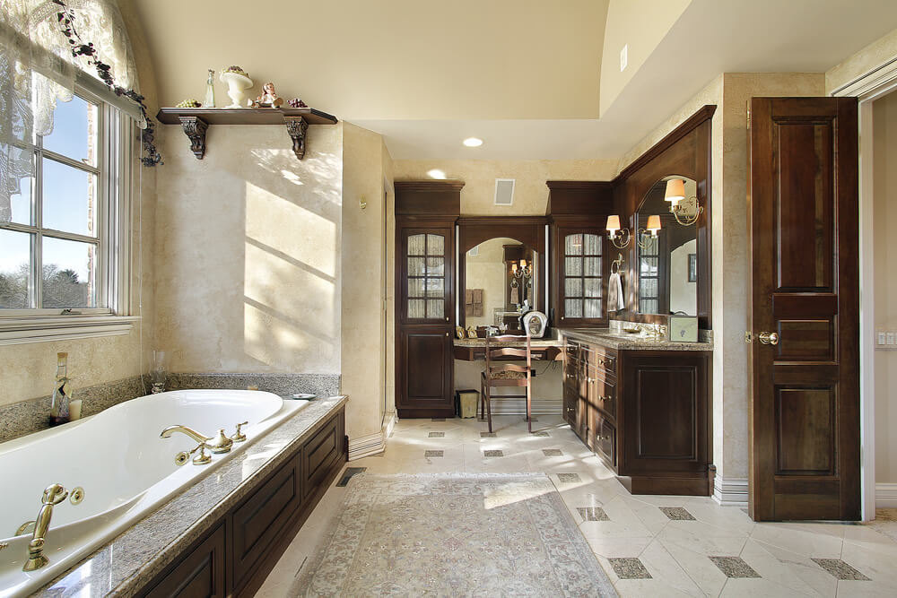 46 Luxury Custom Bathrooms  DESIGNS   IDEAS  Elegance is what the right word for this bathroom  The cabinets and doors  matching can