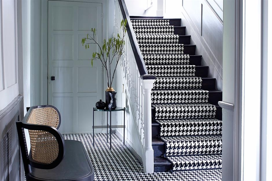 Stylish Staircase Ideas To Suit Every Space Loveproperty Com | Carpet For Bedrooms And Stairs | Modern Staircase | Staircase Remodel | Dark Grey Carpet | Stair Railing | Stair Treads