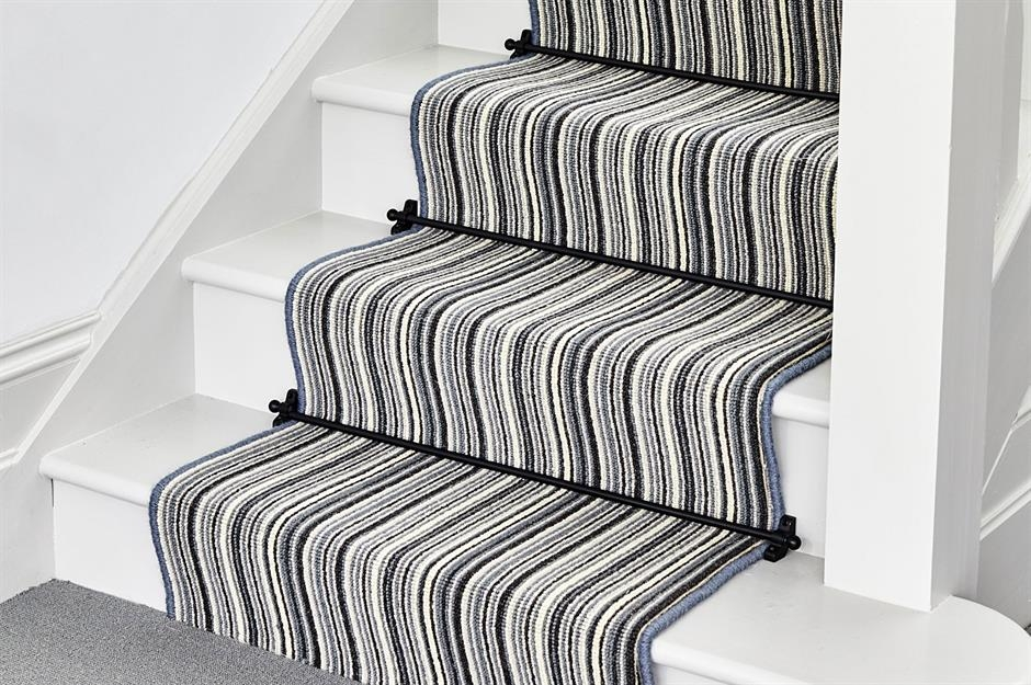 Stylish Staircase Ideas To Suit Every Space Loveproperty Com | White Stairs With Carpet | Black | Chic | Victorian Staircase Carpet | Hardwood | Pinstripe Grey