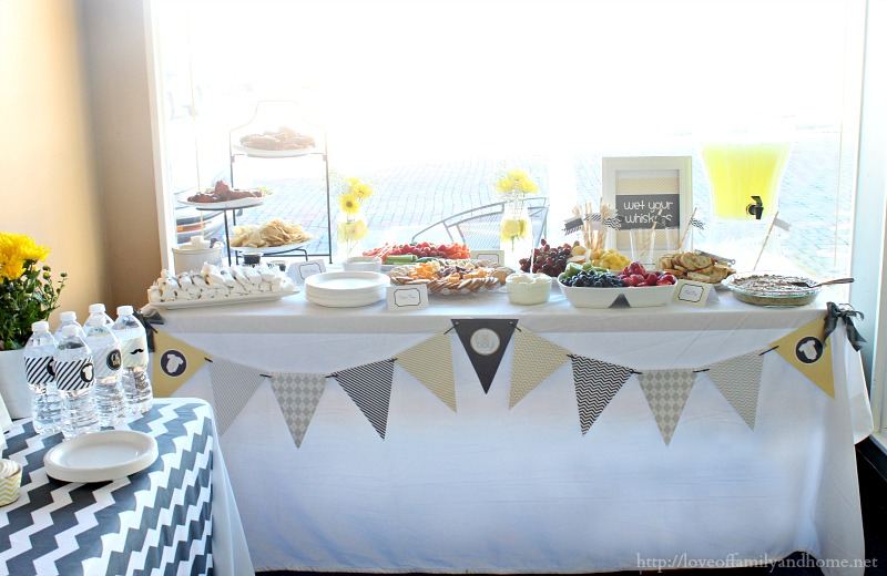 Yellow And Grey Elephant Baby Shower Decorations