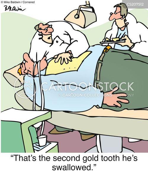 I Swallowed My False Tooth
