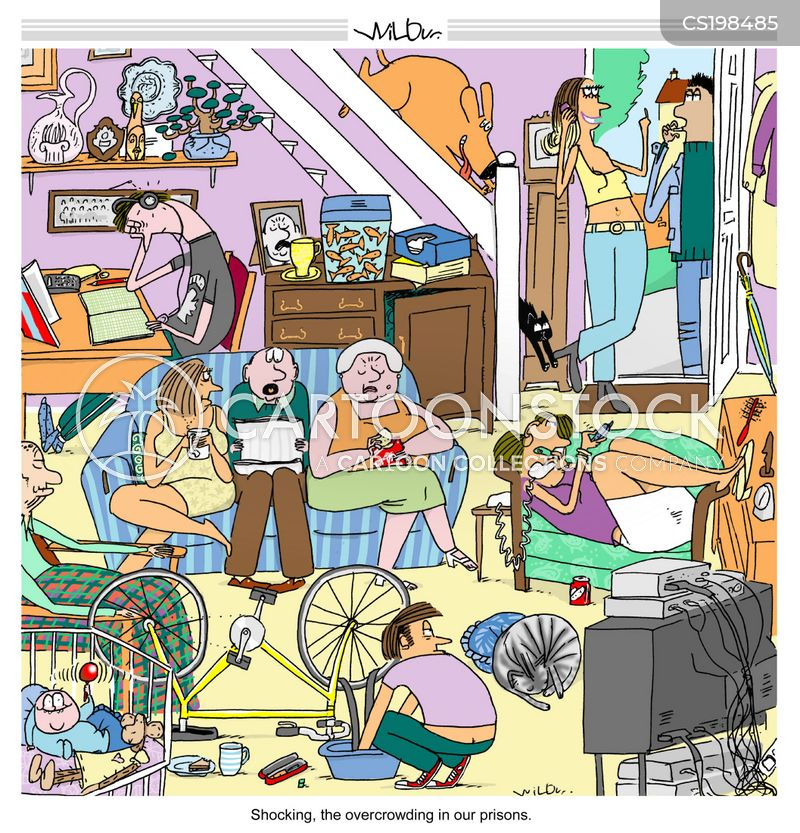 Crowded Funny Living Conditions