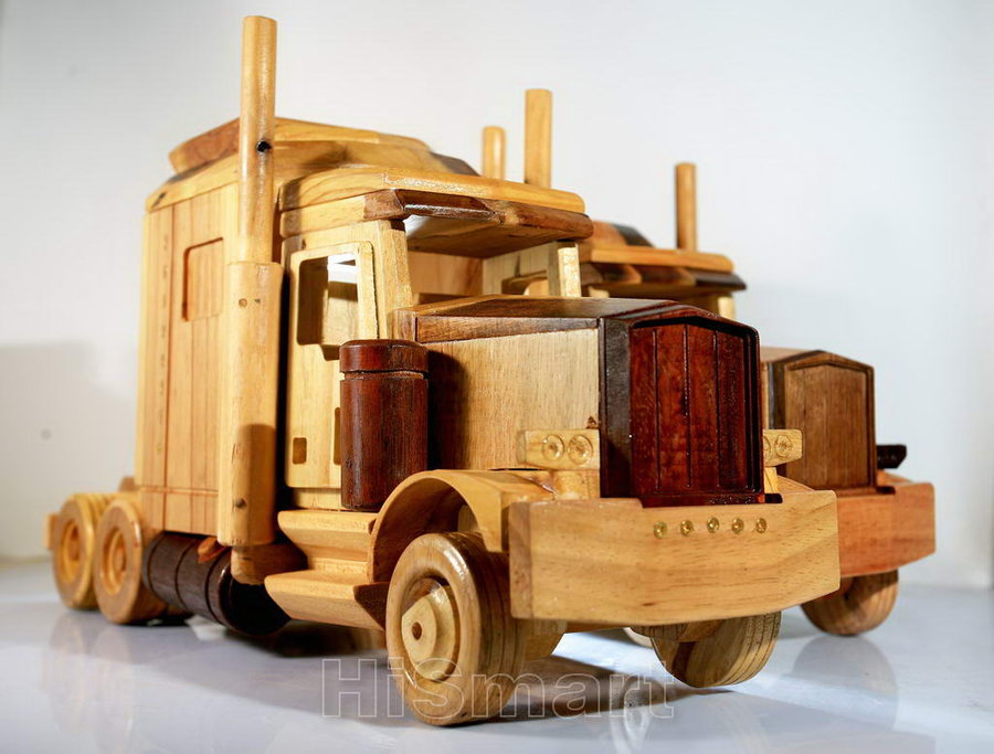 Wooden Toy Truck Plans : Old truck wooden toy plans