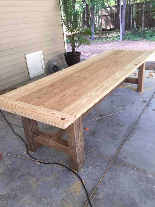 10 Foot Farm Table With Reclaimed Barn Wood By Mharper90