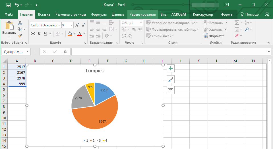 Grafico correlato in Excel in Word