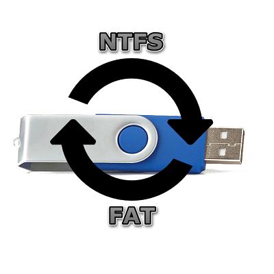 Hoe het bestandssysteem op de flashstation te wijzigen